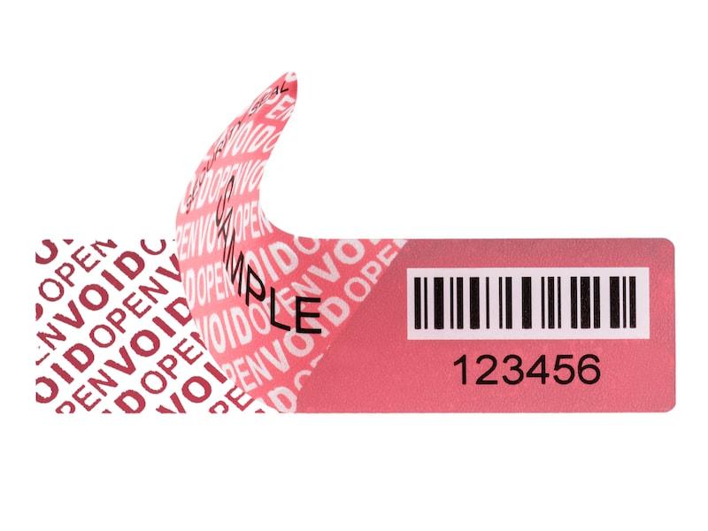 VFSECURE Sicherheitsetikett VFAS-residue rot