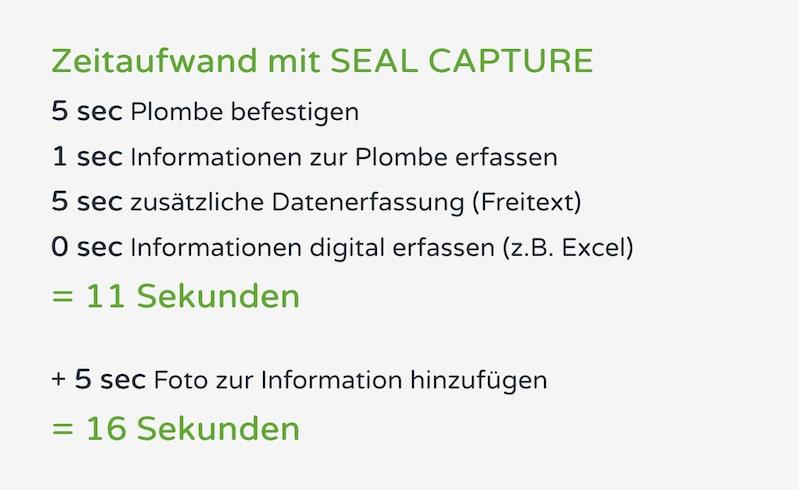 SEAL CAPTURE Vorteile