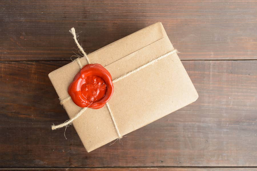 versiegeltes Paket